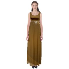 Abstract Background Empire Waist Maxi Dress