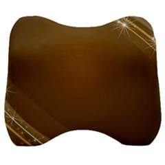 Abstract Background Velour Head Support Cushion