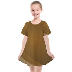 Abstract Background Kids  Smock Dress