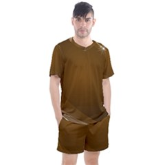 Abstract Background Men s Mesh Tee And Shorts Set
