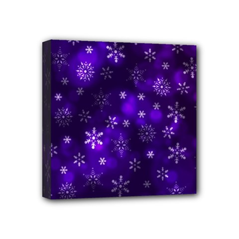 Bokeh Background Texture Stars Mini Canvas 4  X 4  (stretched) by Jojostore