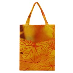 Bright Yellow Autumn Leaves Classic Tote Bag by Jojostore