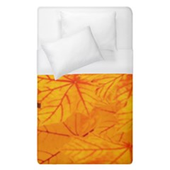 Bright Yellow Autumn Leaves Duvet Cover (single Size)