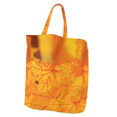 Bright Yellow Autumn Leaves Giant Grocery Tote