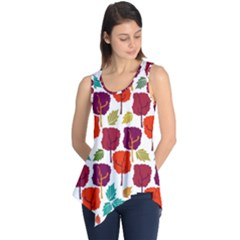 Tree Pattern Background Sleeveless Tunic