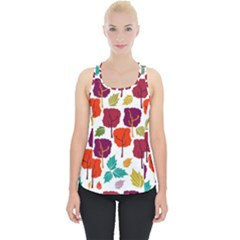 Tree Pattern Background Piece Up Tank Top