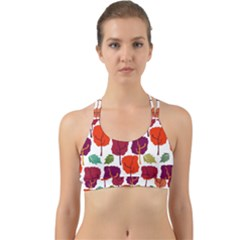 Tree Pattern Background Back Web Sports Bra by Jojostore