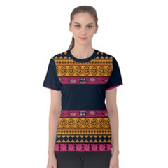 Pattern Ornaments Africa Safari Summer Graphic Women s Cotton Tee