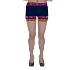Pattern Ornaments Africa Safari Summer Graphic Skinny Shorts by Jojostore