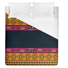 Pattern Ornaments Africa Safari Summer Graphic Duvet Cover (queen Size) by Jojostore