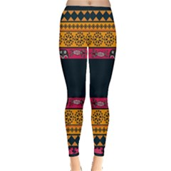 Pattern Ornaments Africa Safari Summer Graphic Inside Out Leggings