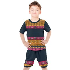 Pattern Ornaments Africa Safari Summer Graphic Kid s Set