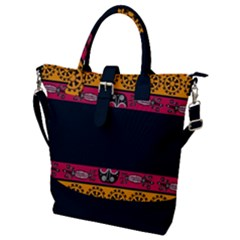 Pattern Ornaments Africa Safari Summer Graphic Buckle Top Tote Bag
