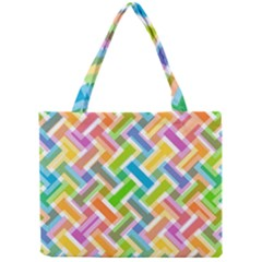 Abstract Pattern Colorful Wallpaper Mini Tote Bag