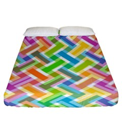 Abstract Pattern Colorful Wallpaper Fitted Sheet (california King Size) by Jojostore