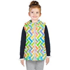 Abstract Pattern Colorful Wallpaper Kid s Hooded Puffer Vest