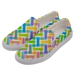 Abstract Pattern Colorful Wallpaper Men s Canvas Slip Ons by Jojostore