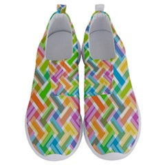 Abstract Pattern Colorful Wallpaper No Lace Lightweight Shoes