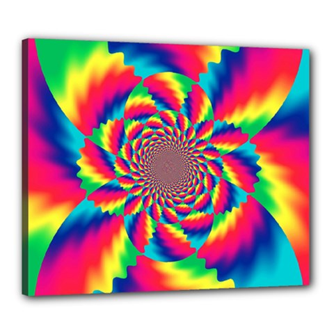 Colorful Psychedelic Art Background Canvas 24  X 20  (stretched)