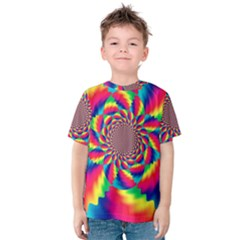 Colorful Psychedelic Art Background Kids  Cotton Tee