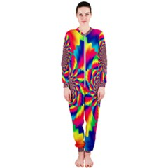 Colorful Psychedelic Art Background Onepiece Jumpsuit (ladies)