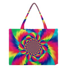 Colorful Psychedelic Art Background Medium Tote Bag by Jojostore