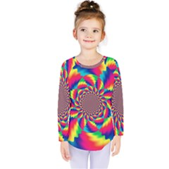 Colorful Psychedelic Art Background Kids  Long Sleeve Tee