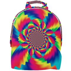 Colorful Psychedelic Art Background Mini Full Print Backpack