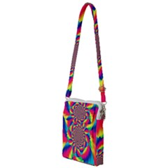 Colorful Psychedelic Art Background Multi Function Travel Bag