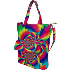 Colorful Psychedelic Art Background Shoulder Tote Bag