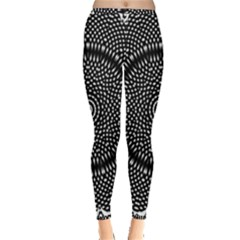 Black Lace Kaleidoscope On White Inside Out Leggings