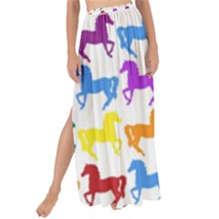 Colorful Horse Background Wallpaper Maxi Chiffon Tie Up Sarong