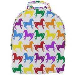 Colorful Horse Background Wallpaper Mini Full Print Backpack by Jojostore