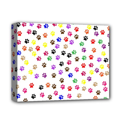Paw Prints Background Deluxe Canvas 14  X 11  (stretched) by Jojostore