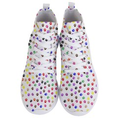 Paw Prints Background Men s Lightweight High Top Sneakers