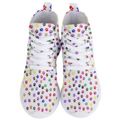 Paw Prints Background Women s Lightweight High Top Sneakers by Jojostore