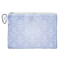 Damask Pattern Wallpaper Blue Canvas Cosmetic Bag (xl)