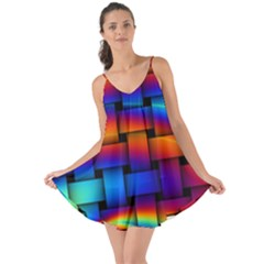 Rainbow Weaving Pattern Love The Sun Cover Up