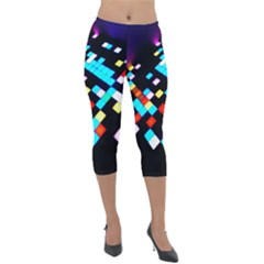 Dance Floor Lightweight Velour Capri Leggings  by Jojostore