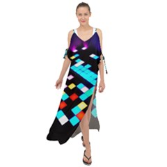Dance Floor Maxi Chiffon Cover Up Dress