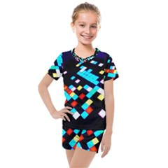 Dance Floor Kids  Mesh Tee And Shorts Set