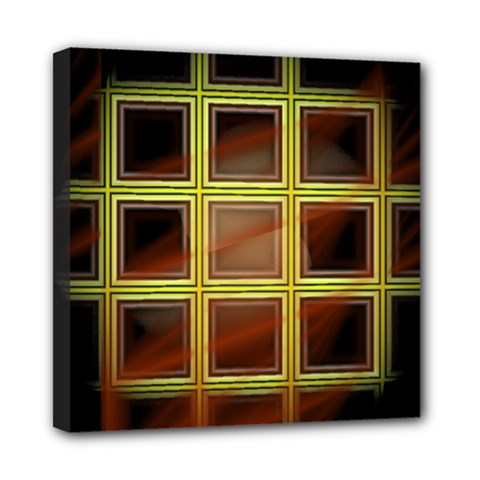 Drawing Of A Color Fractal Window Mini Canvas 8  X 8  (stretched) by Jojostore