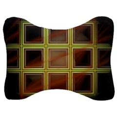 Drawing Of A Color Fractal Window Velour Seat Head Rest Cushion by Jojostore