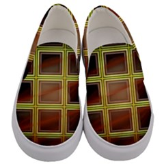 Drawing Of A Color Fractal Window Men s Canvas Slip Ons