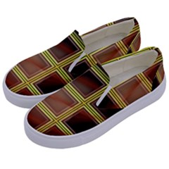 Drawing Of A Color Fractal Window Kids  Canvas Slip Ons by Jojostore