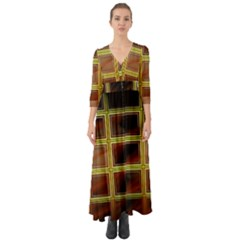 Drawing Of A Color Fractal Window Button Up Boho Maxi Dress by Jojostore