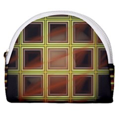 Drawing Of A Color Fractal Window Horseshoe Style Canvas Pouch by Jojostore