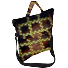 Drawing Of A Color Fractal Window Fold Over Handle Tote Bag by Jojostore