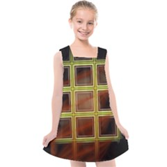 Drawing Of A Color Fractal Window Kids  Cross Back Dress