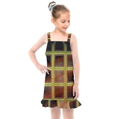 Drawing Of A Color Fractal Window Kids  Overall Dress by Jojostore